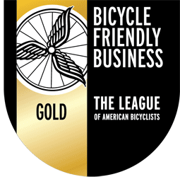 Washington Bike Law awarded as a Gold Bike Friendly Business, from the League of American Bicyclists, first law firm to get this award.